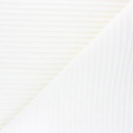 Tissu velours grosses côtes Thevenon Please - ivoire x 10cm