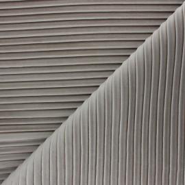Thevenon pleated velvet fabric - beige Please x 10cm