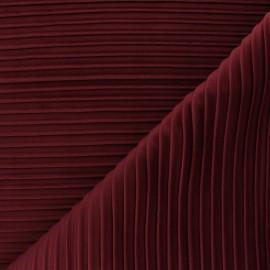 Tissu velours plissé Thevenon Please - bordeaux x 10cm