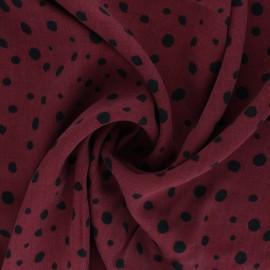 Lyocell Tencel twill fabric - burgundy peas x 10cm