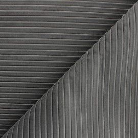 Tissu velours plissé Thevenon Please - gris x 10cm