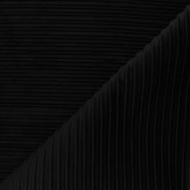 Tissu velours plissé Thevenon Please - noir x 10cm