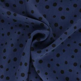 Lyocell Tencel twill fabric - sapphire blue dots x 10cm