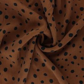 Lyocell Tencel twill fabric - camel dots x 10cm