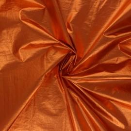 Tissu nylon métallisé Anemone - orange x 10cm