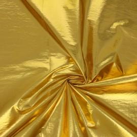 Tissu nylon métallisé Anemone - jaune x 10cm