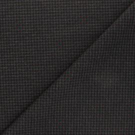 Tissu Jersey Milano Houndstooth - gris x 10cm