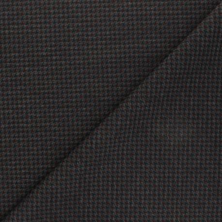 Milano jersey fabric - grey Houndstooth x 10cm