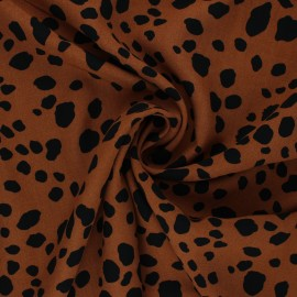 Jelani viscose fabric - camel x 10cm