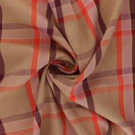 Tissu coton viscose Bertille - camel x 10cm