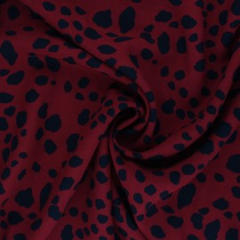 Jelani Viscose Fabric - Garance Red x 10cm