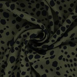 Jelani Viscose Fabric - khaki green x 10cm