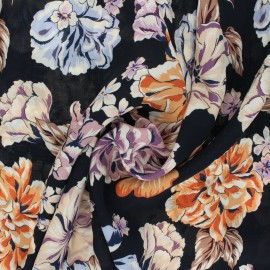 Crepe Viscose fabric - black Isodora x 10cm