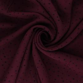 Mini Jelani Viscose Fabric - burgundy x 10cm