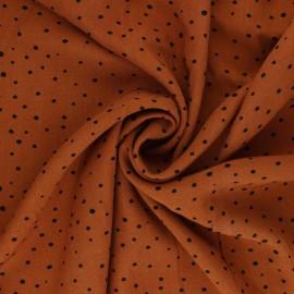 Mini Jelani Viscose Fabric - orange x 10cm
