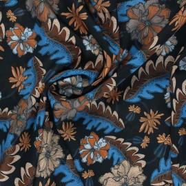 Tissu polyester satiné Luccia - noir x 10cm