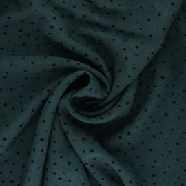 Mini Jelani Viscose Fabric - peacock green x 10cm