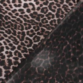Tissu spécial ciré transparent réversible Abby - marron x 10cm