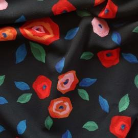 Atelier 27 Elastane Crepe fabric - black Merveille x 10cm