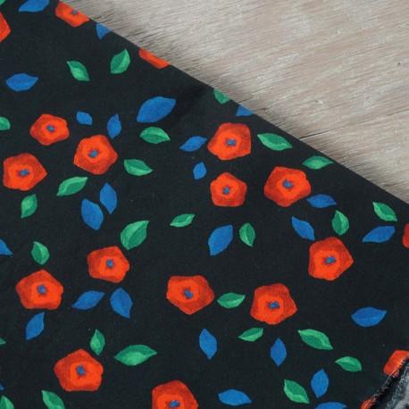 Atelier 27 crisp poplin fabric - black Magie x 10cm