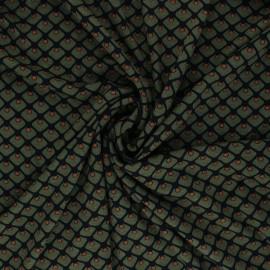 Elastane Viscose Fabric - Squary - Green x 10cm