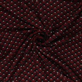 Elastane Viscose Fabric - Squary - Red x 10cm