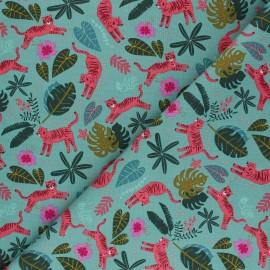 Cotton Dashwood Studio fabric - pink tiger x 10cm