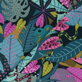Tissu coton Dashwood Studio Night Jungle - Leaves x 10cm