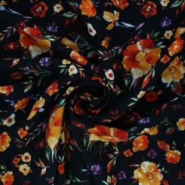 Tissu viscose Aïnoa - Noir x 10cm