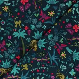 Tissu coton Dashwood Studio Night Jungle - Animaux x 10cm