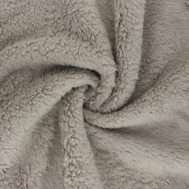 Cotton sheep fur fabric - grege x 10cm