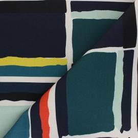 Cotton canvas fabric Thevenon - multicolor Petit Montorgueil x 10cm