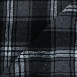 Tissu drap manteau Lumberjack - gris x 10cm