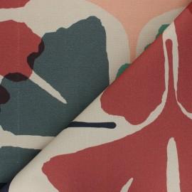 Cotton canvas fabric Thevenon - beige Ginko x 10cm