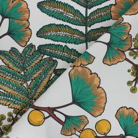 Tissu toile de coton Thevenon Victoria - gris x 10cm