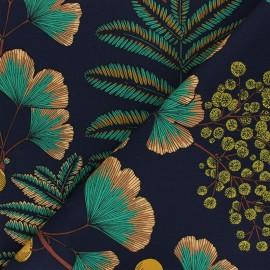 Cotton canvas fabric Thevenon - navy blue Victoria x 10cm