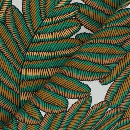 Cotton canvas fabric Thevenon - grey Vicky x 10cm