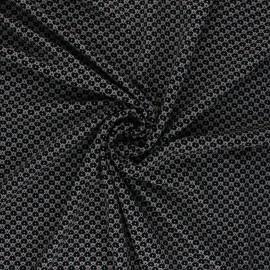 Elastane Viscose Fabric - Selena - Black x 10cm