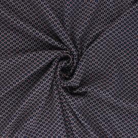 Elastane Viscose Fabric - Selena - Navy blue x 10cm