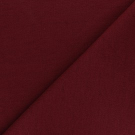 Tissu Sweat Viscose - Cozy - bordeaux x 10 cm
