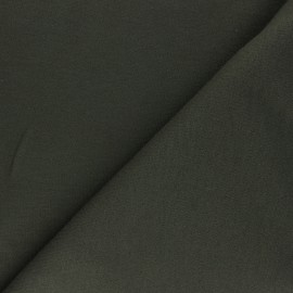 Tissu Sweat Viscose - Cozy - Vert Kaki x 10 cm