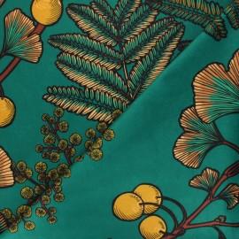 Thevenon short velvet fabric - emerald green Victoria x 50cm