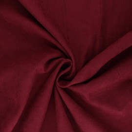 Suede-like lining fabric - burgundy Alphée x 10cm