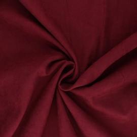 Tissu Doublure aspect suédine - Alphée - bordeaux x 10cm