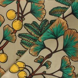 Tissu velours ras Thevenon Victoria - ficelle x 50cm