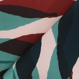Cotton canvas fabric Thevenon - pink Grand Tilleul x 10cm