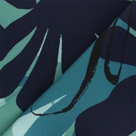 Tissu toile de coton Thevenon Assouan - bleu x 10cm