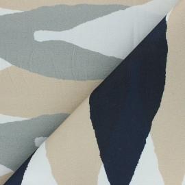 Cotton canvas fabric Thevenon - beige Grand Tilleul x 50cm