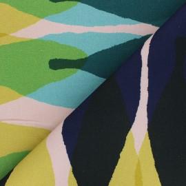 Cotton canvas fabric Thevenon - green Grand Tilleul x 50cm
