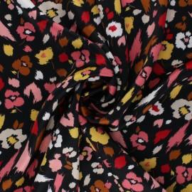 Elastane satin fabric by Penelope® - black Lali x 10cm